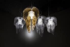aria gold chandelier by zaha hadid for slamp
