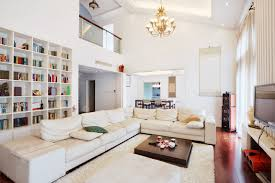 Rooms with white furniture Bedroom Decorating This White Library Living Room Is Stretched By Long Offwhite Sofa Angled On Home Stratosphere 72 Living Rooms With White Furniture sofas And Chairs