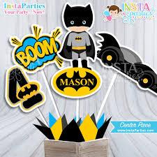 Personalized Superhero Birthday Invitations Batman Centerpieces Superhero Centerpiece Superheroes Birthday