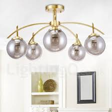 8 light retro rustic luxury brass pendant lamp chandelier with glass shade