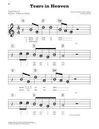 heaven piano sheet music tears in heaven sheet music by eric clapton piano vocal guitar