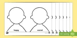 Toy Character Face Drawing Emotions Worksheet Feelings