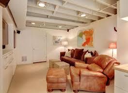 basement lighting ideas low ceiling fixture