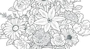 free printable flower coloring pages for adults. Brilliant For Flower Coloring Pages For Adults Advanced Adult  With Free Printable Flower Coloring Pages For Adults T