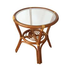 round small coffee table diana 19 color light brown with glass top