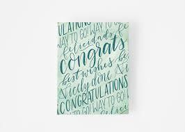 Hand Lettered Congratulations Card Fresh Cut Prints