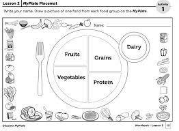 Create a #MyPlate placemat w/kids as a reminder to eat foods from ...