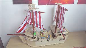 lets play with the early learning center giant wooden pirate ship plan toys pirate ship