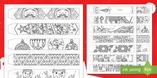 Christmas Coloring Paper Christmas Mindfulness Colouring Paper Chain Christmas Mindfulness
