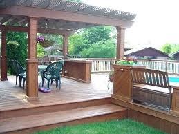 above ground pool deck cost estimator decks around pools
