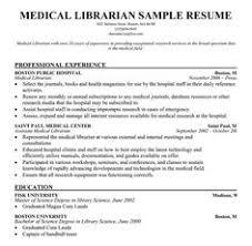 Sample Medical School Resume Sample Medical Librarian Resume Healthcare Marketing 72