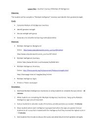 lesson plan multiple intelligences revised