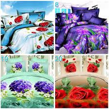 high quality home textiles new style 3d violet flowers bedclothes bedding set duvet quilt cover bedsheet bedlinen sets bedding for pink duvet covers