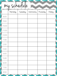Printable Weekly Schedules 15 Printable Weekly Schedules For Everyone To Utilize