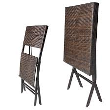 rattan effect 60cm square folding table with two chairs impressive on outdoor table and chairs folding