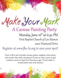 canvas painting flyer