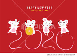 chinese new year card 2020 2020 happy chinese new year the year of the stock