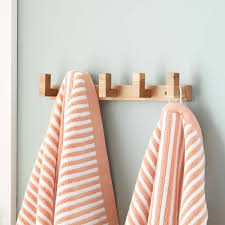 Jodi Towel Rack with Square Hangers Bathroom