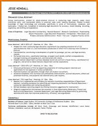 7 Legal Assistant Resume Objective Bibliography Apa