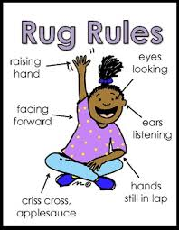 carpet time clipart. preschool rug circle time rules clipart carpet l