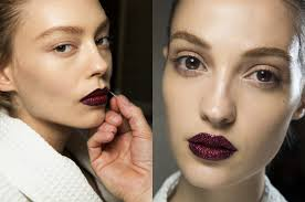 makeup trend jeweled lips modern graphic eyes bare skin by pat mcgrath for
