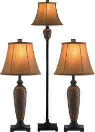 hammered bronze 3 piece floor and two table lamps set table lamps regarding hammered bronze