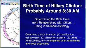 Hillary Clinton Determining Her Birth Time With Vibrational Astrology
