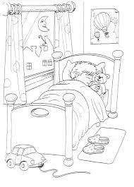 Slapen Kleurplaat Kleuters Logeerbeerlogeren Coloring Pages