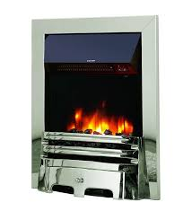 celsi accent traditional inset electric fire silver