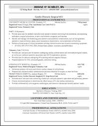 Operating Room Nurse Resume Nursing Cover Letter Job Application