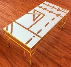Coffee Table Painting Hand Painted Coffee Table Makeover Coffee Addicts