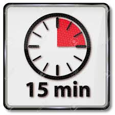 Timer Fifteen Minutes Clock With Fifteen Minutes