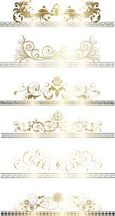 gold ribbon border floral gold ribbons borders vector set vector frames borders