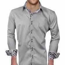 Black Designer Dress Shirt Grey With Black Paisley Designer Dress Shirt Made In Usa