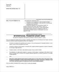 Sample Deed Of Trust Form Stunning Sample Grant Deed Form 48 Free Documents In PDF