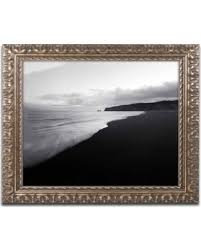 Black ornate frame Decorative Trademark Fine Art on The Black Beach Canvas Art By Philippe Saintelaudy People Heres Great Deal On Trademark Fine Art on The Black Beach