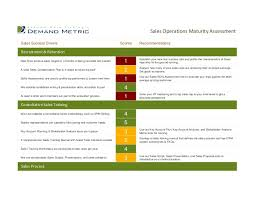 Sales Operations Maturity Assessment