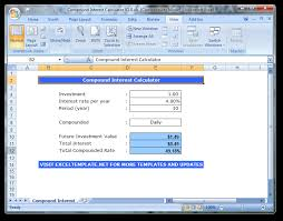 daily interest calculator excel download compound interest calculator 1 0