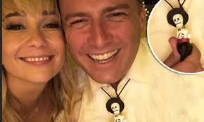 Karl Stefanovic wears a <b>skeleton necklace</b> during wedding reception ...