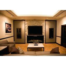 pebble fireplace regal flame fusion inch built in heater recessed wall mounted electric fireplace pebble gas