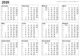 Week Number Calendar Free Printable Calendars And Planners 2020 2021 2022