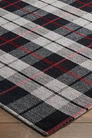cottage 11e black grey red tartan