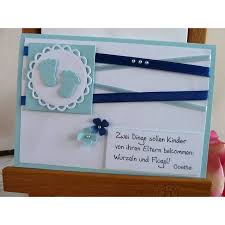 Karte Zur Geburttaufe Für Einen Jungen In Hellblau Mit Schönem
