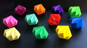 How To Make A Paper Diamond Easy Tutorial Using Origami Paper Diy