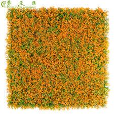 orange fake grass wall mat for wall