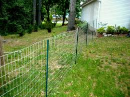 image of wire outdoor dog fence panels