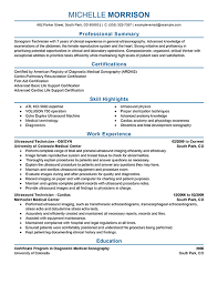20 professional radiography resume examples x ray technician professional resume  sample - Sonographer Resume Sample