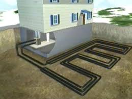geothermal heat pump draws warmth from ground