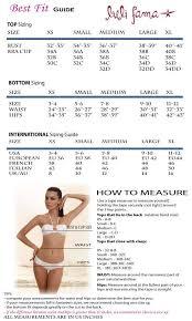Luli Fama Size Chart Luli Fama Swimwear Size Chart Elite Fashion Swimwear