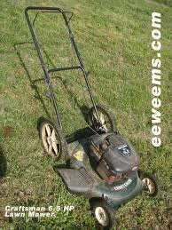 Craftsman 917 Lawn Mower 6.5 HP Briggs and Stratton starting ...